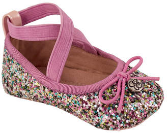 Trimfoot Pink Multi Glitter Flat