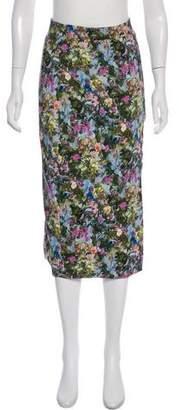 Cushnie et Ochs Floral Print Midi Skirt w/ Tags