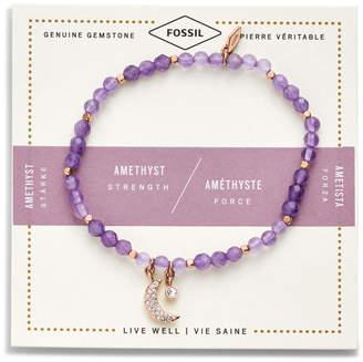Fossil Amethyst Bracelet