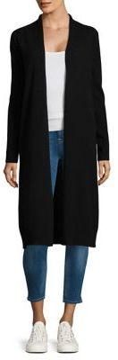 Lord & Taylor Ebony Cashmere Long Cardigan $268 thestylecure.com