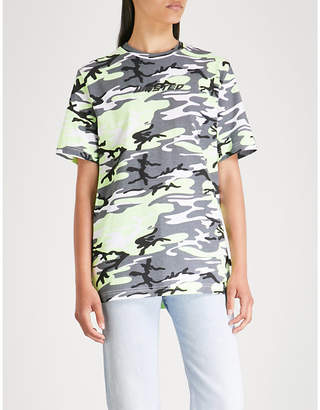 Wasted Paris Camouflage-print cotton-jersey T-shirt