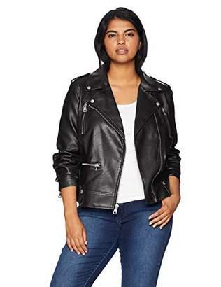 Levi's Size Women's Plus Faux Leather Contemporary Motorcycle Jacket