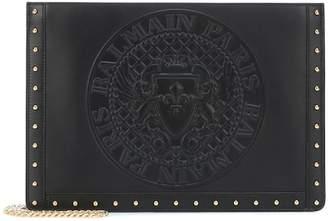 Balmain Domaine leather shoulder bag