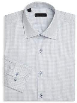 Saks Fifth Avenue COLLECTION Dotted Line Regular-Fit Shirt