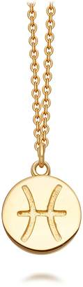 Astley Clarke Gold Pisces Zodiac Biography Pendant Necklace
