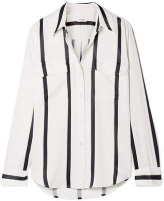 Equipment Signature Striped Satin Shirt - White