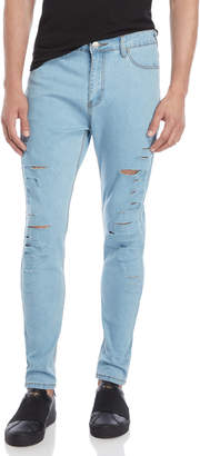 Criminal Damage Distressed Skinny Jeans