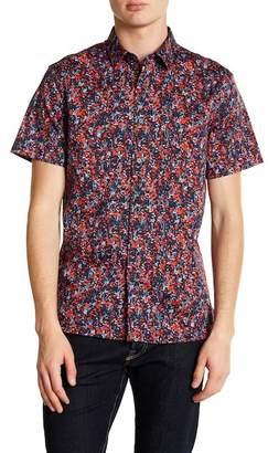 Perry Ellis Slim Fit Short Sleeve Splatter Print Shirt