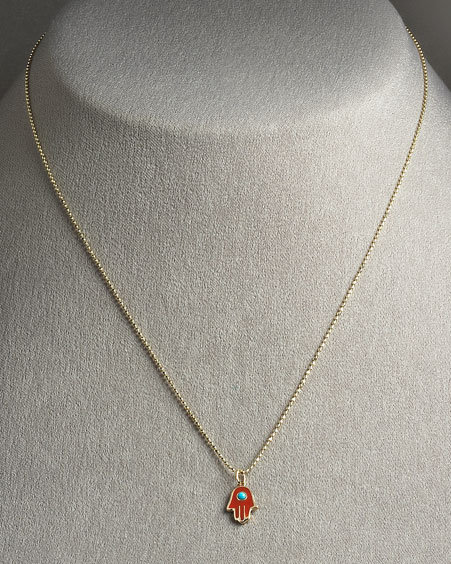 Sydney Evan Hamsa Necklace; Small
