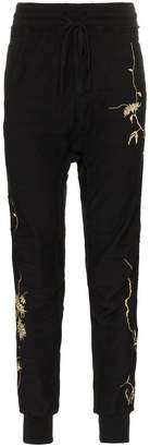 Haider Ackermann embroidered track pants