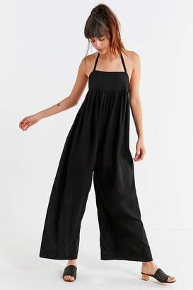 Urban Outfitters Halter Wide-Leg Jumpsuit