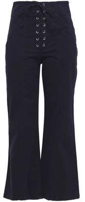 A.L.C. Kyt Lace-Up Stretch-Cotton Flared Pants