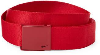 Nike Red Single Web Belt