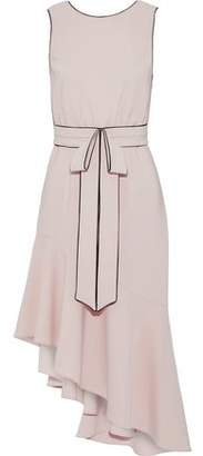 Sachin + Babi Merle Asymmetric Bow-Embellished Crepe Dress