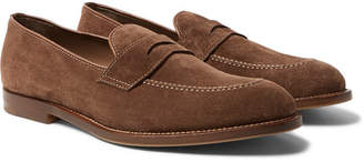 Brunello Cucinelli Suede Penny Loafers - Men - Brown