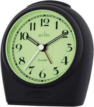 Acctim 14983 Broadway Smartlite® Sweeper Alarm Clock, Black by
