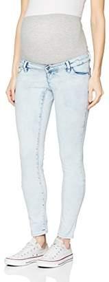 cf23cb810fc1d Mama Licious Mamalicious Women's Mlseattle Slim Jeans B. Maternity Trousers,  Blue (Light Denim