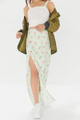 Urban Outfitters Alexia Floral Front-Slit Maxi Skirt