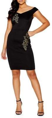Quiz Bardot Knee-Length Dress