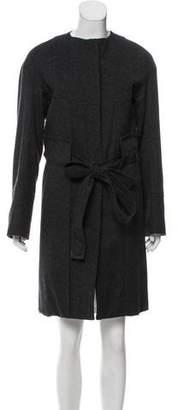 Reed Krakoff Collarless Knee-Length Coat