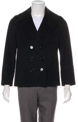Burberry Cashmere & Wool Double-Breasted Peacoat