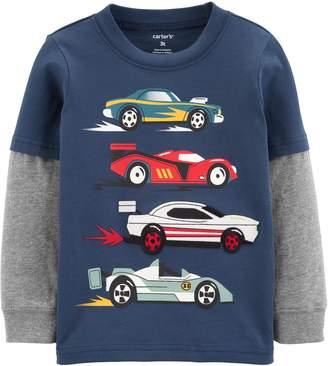 Carter's Baby Boy Race Car Layered-Look Jersey Tee