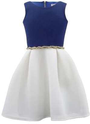 David Charles Colorblock Mesh Dress