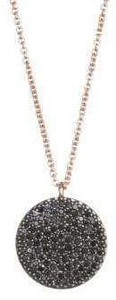 Astley Clarke The Icon Black Diamond& 14K Yellow Gold Pendant Necklace