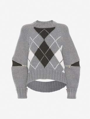 Alexander McQueen Slashed Detail Knitted Jumper