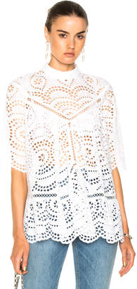 Zimmermann for FWRD Paradiso Broderie Paneled Smock Top $494 thestylecure.com