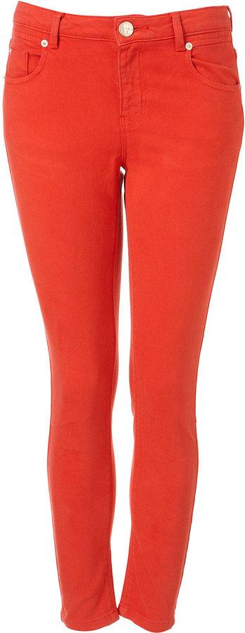Petite MOTO Red Jamie Ultimate Skinny Jeans