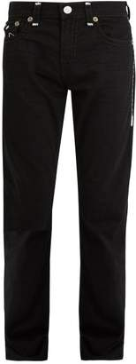 True Religion Contrast Stitch Mid Rise Straight Leg Jeans - Mens - Black