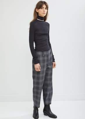Acne Studios Flannel Check Cropped Trousers