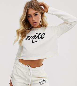 18502f102e03 White Nike Crop Top - ShopStyle UK