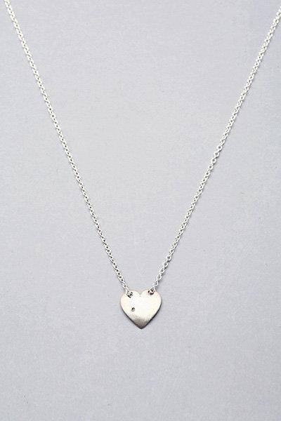 Adina Tiny Heart w/Diamond in Silver