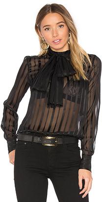 MAJORELLE Brigitte Blouse in Black $148 thestylecure.com