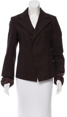 Yohji Yamamoto Structured Wool Jacket $145 thestylecure.com