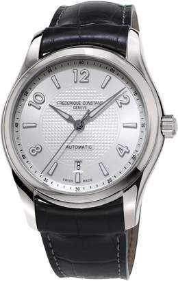Frederique Constant Men's 'RunAbout' Swiss Automatic Stainless Steel and Leather Dress Watch, Color:Black (Model: FC-303RMS6B6)