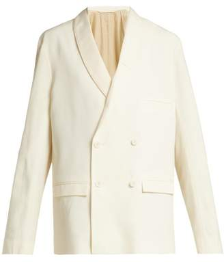 Lemaire - Double Breasted Asymmetric Wool Jacket - Womens - Cream
