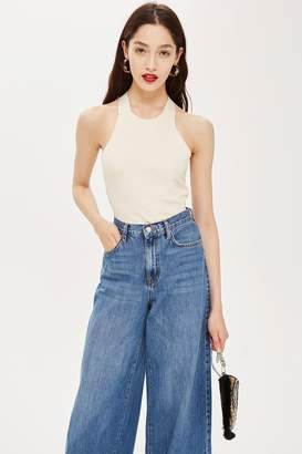 Topshop Hardware Halter Neck Top