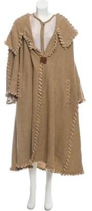 Fendi Netted Long Overcoat