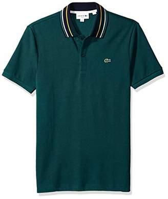 Lacoste Men's Short Sleeve Slim Fit Semi Fancy Striped Collar Polo