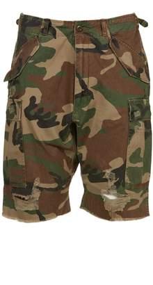 R 13 Camo Cargo Shorts