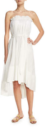 lila.eugenie Breezy Frill Voile Coverup Dress w/ Lined Belt