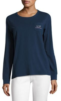 Vineyard Vines Vintage Logo Pocket Tee $49.50 thestylecure.com
