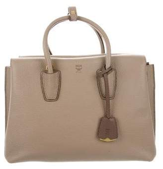 MCM Grained Leather Medium Milla Tote