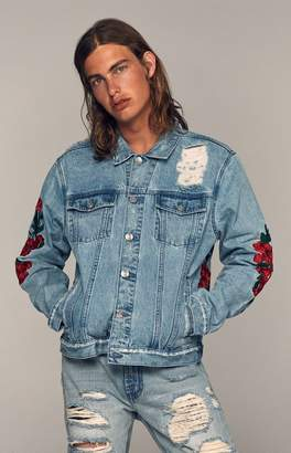 PacSun Classic Embroidered Denim Trucker Jacket