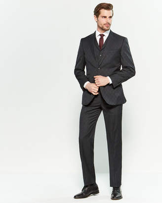 English Laundry 3-Piece Black Glen Check Suit