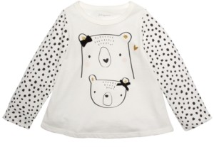 First Impressions Toddler Girls Cotton Bears T-Shirt, Created For Macy's