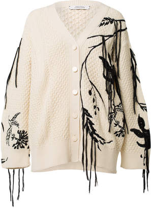 Schumacher Dorothee Floral Fun Embroidered Cardigan